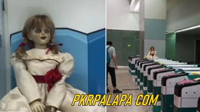 Boneka Horor Annabelle 'Gentayangan' di MRT dan LRT Malaysia